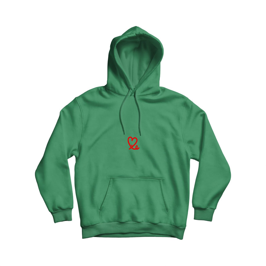Men's Super Green & Red Pullover Hoodie