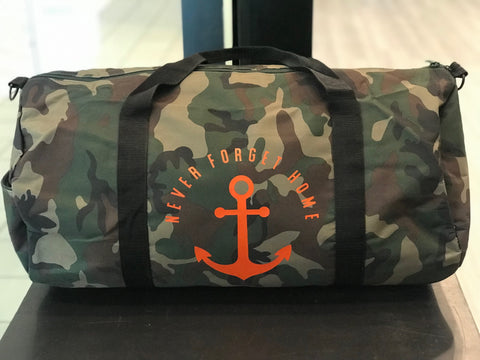 Camo Never Forget Home Duffel Bag