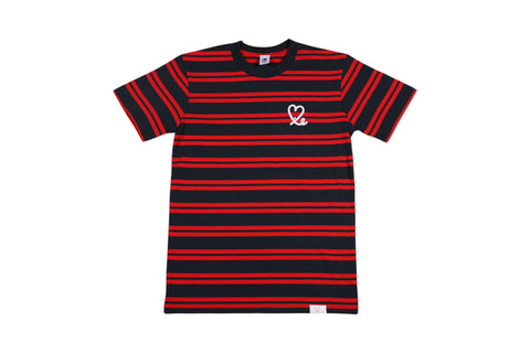 Men's Navy Red Stripe Tee