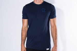 Men's Navy & Midnight Blue Triblend Short Sleeve Tee