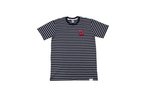Men's Navy White Stripe Tee