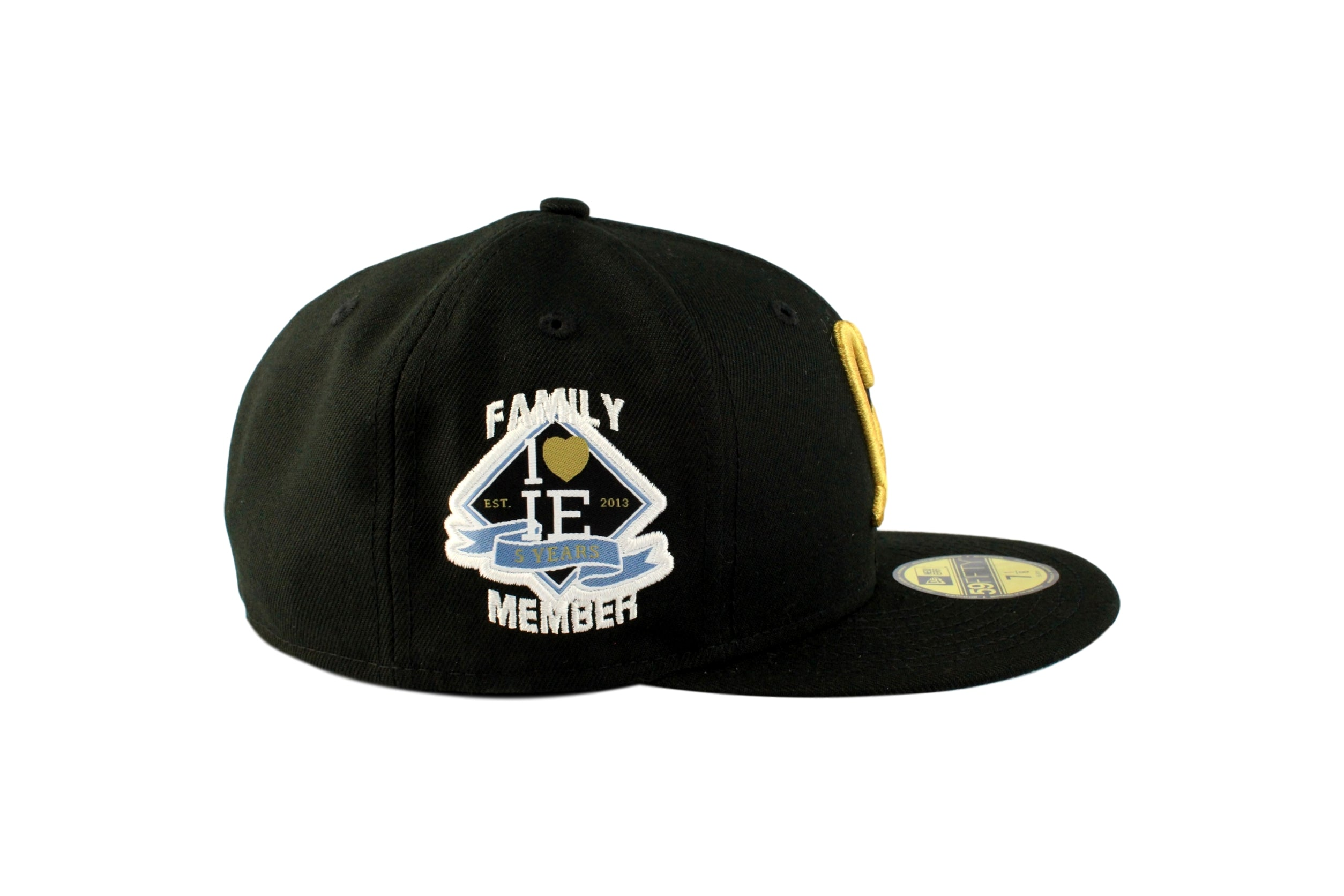 21f7bca58e7 Limited Black   Gold 1LoveIE New Era 59FIFTY Fitted Cap