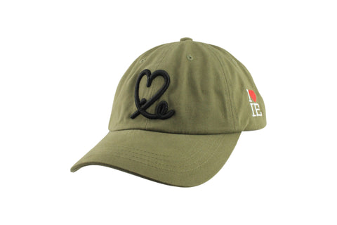 Signature Dad Hat  (Olive Green/Black)