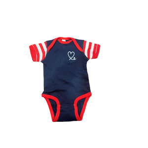 Red Navy Two Tone /Onesie