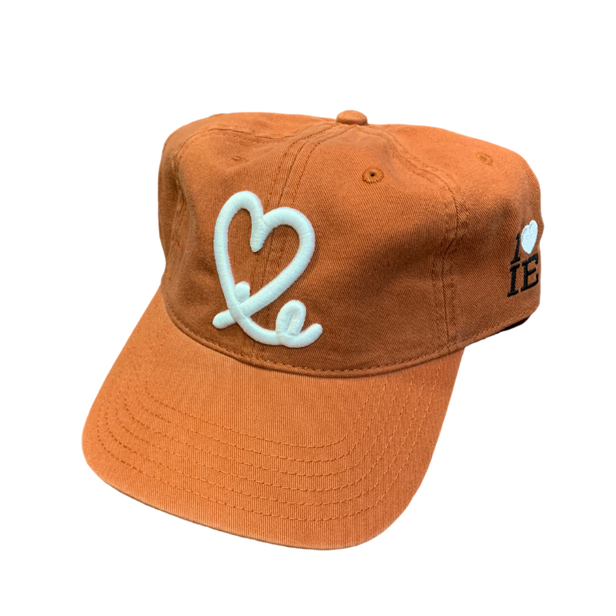 1LoveIE Signature Dad Hat (Burnt Orange / White)