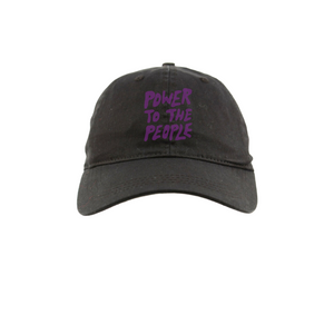 Power To The People Dad Hat (Black / Purple)
