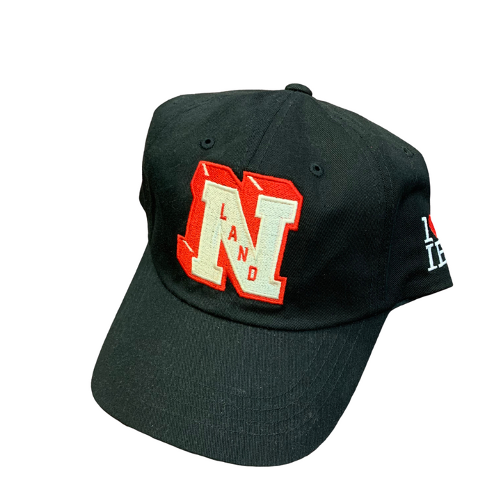 """NLand""  Dad Hat (Black / Red)"