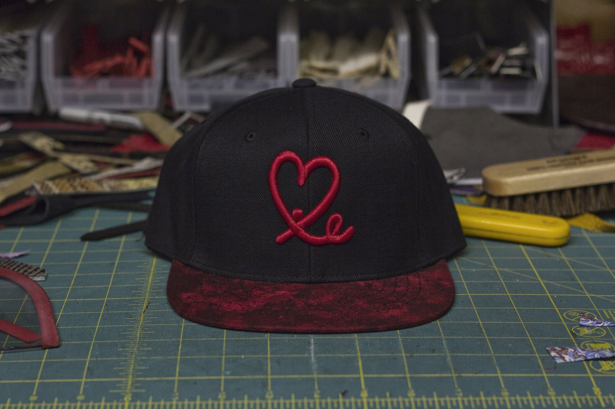 Limited Black IE Heart Logo Fire In The Sky