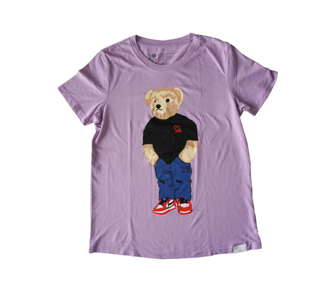 Women's Jasper The Bear Tshirt Lavender