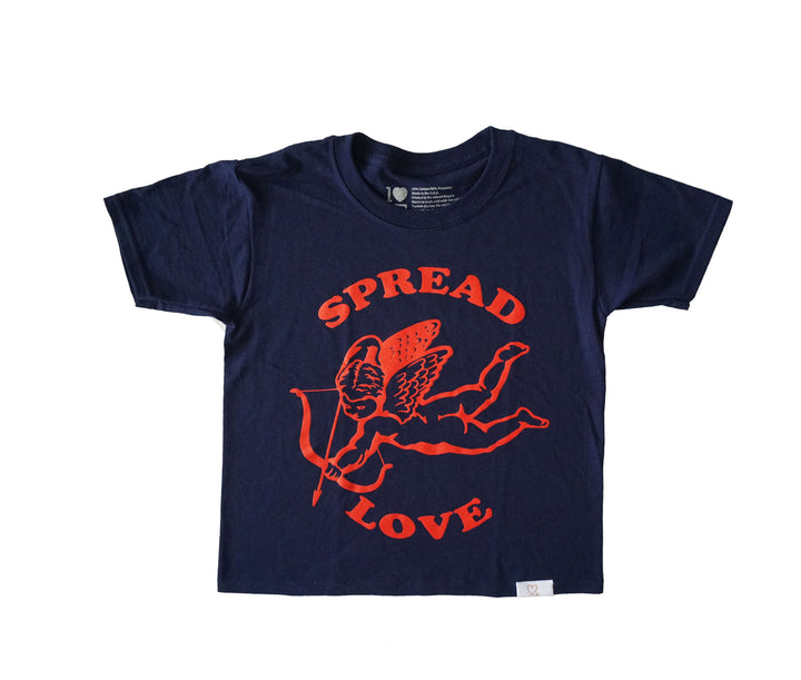 Youth Spread Love T-Shirt Navy / Red