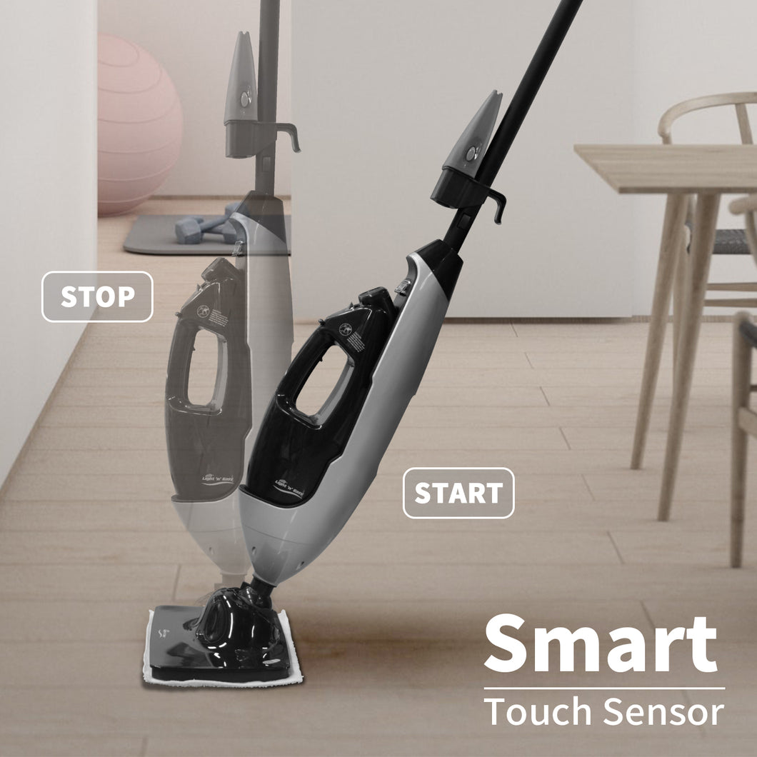 LIGHT 'N' EASY Steam Cleaner, Steam Mop,Multifunctional Floor Steamer with Detachable Handheld Unit, Child and Pet Safe, Multi-Purpose Floor Steam Cleaner for Hardwood,Grout,Tile,Laminate, 7688ANB