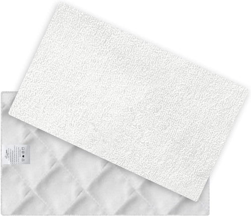 LIGHT 'N' EASY Steam Mop Pads Replacement for S3101 (NOT for S3601), 2 Pcs Microfiber Washable Cleaning Mop Pads, Reusable Pads, White