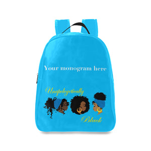 Unapologetically Black School Bag (Model 1601) (Large)