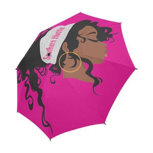 Southern Hustle Headwrap Semi-Automatic Foldable Umbrella (Model U05)