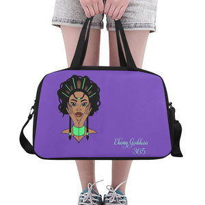 Ebony Goddess Tote And Cross-body Travel Bag (Black) (Model 1671)
