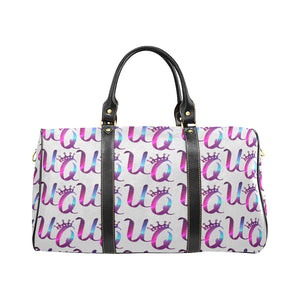Unique Queens Purple and Pink Galaxy Travel Bag (Black) (Model1639)
