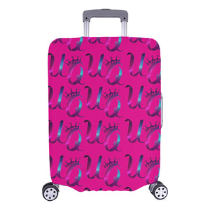 "Unique Queens Purple and Pink Galaxy Luggage Cover (Large Size) (26""-28"")"