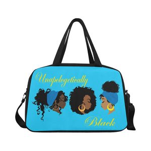 Unapologetically Black Tote And Cross-body Travel Bag (Black) (Model 1671)