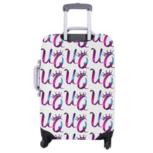 "Load image into Gallery viewer, Unique Queens Purple and Pink Galaxy Luggage Cover (Large Size) (26""-28"")"