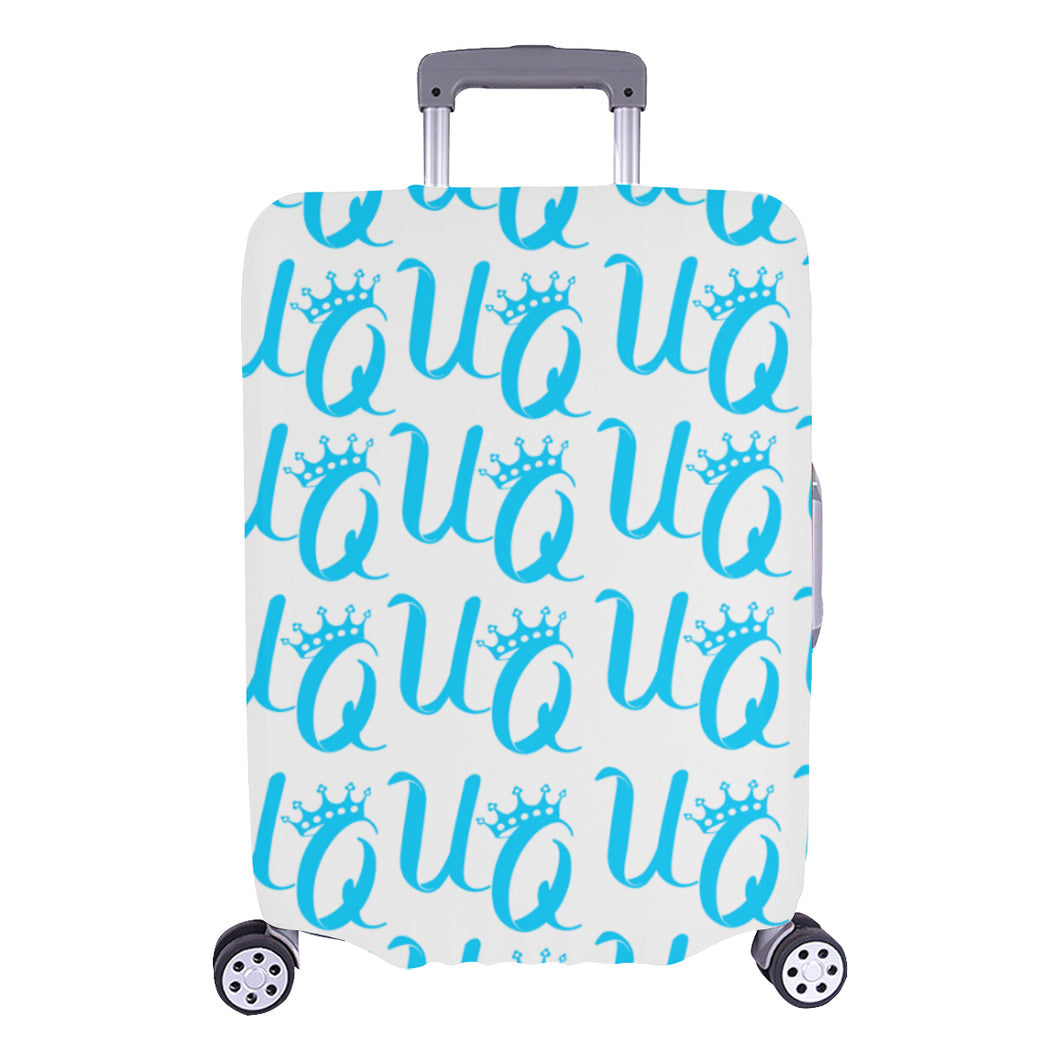 Unique Queens Aqua Luggage Cover (Large Size) (26