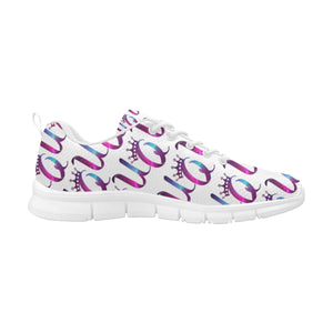Unique Queens Purple and Pink Galaxy Women's Breathable Sneakers (Model 055)