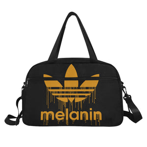 Melanin Dripping Tote And Cross-body Travel Bag (Black) (Model 1671)