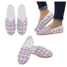 Load image into Gallery viewer, Unique Queens Purple and Pink Galaxy Casual Canvas Women's Shoes (Model004)