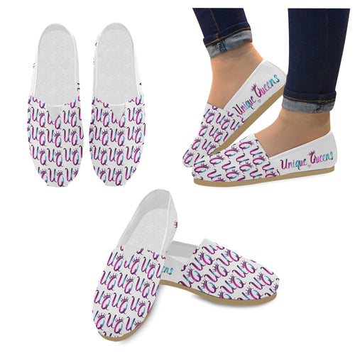 Unique Queens Purple and Pink Galaxy Casual Canvas Women's Shoes (Model004)