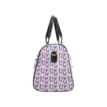 Load image into Gallery viewer, Unique Queens Purple and Pink Galaxy Travel Bag (Black) (Model1639)