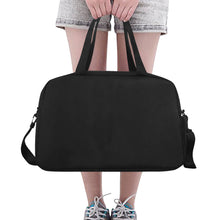 Load image into Gallery viewer, Fully Customizeable Weekender bag Tote And Cross-body Travel Bag (Black) (Model 1671)