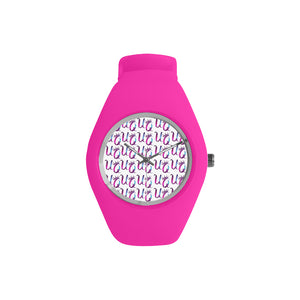 Unique Queens Purple and Pink Galaxy Simple Style Candy Silicone Watch (Model 315)