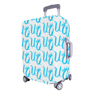 "Unique Queens Aqua Luggage Cover (Large Size) (26""-28"")"