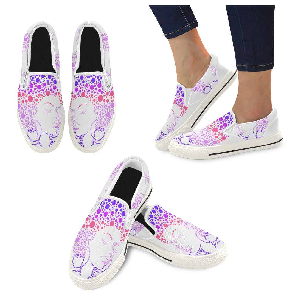 Southern Soul Slip-on Canvas Women's Shoes (Model019) (Large Size)