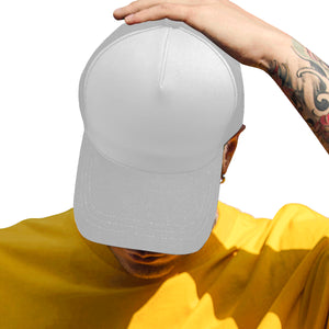 Hat Grey Unisex Baseball Cap F (Front Panel Customization)