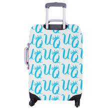 "Load image into Gallery viewer, Unique Queens Aqua Luggage Cover (Large Size) (26""-28"")"