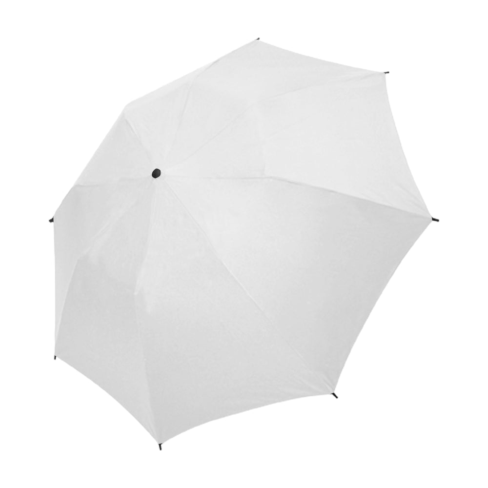 Full Customization Umbrella white Semi-Automatic Foldable Umbrella (Model U05)
