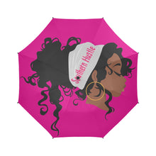 Load image into Gallery viewer, Southern Hustle Headwrap Semi-Automatic Foldable Umbrella (Model U05)