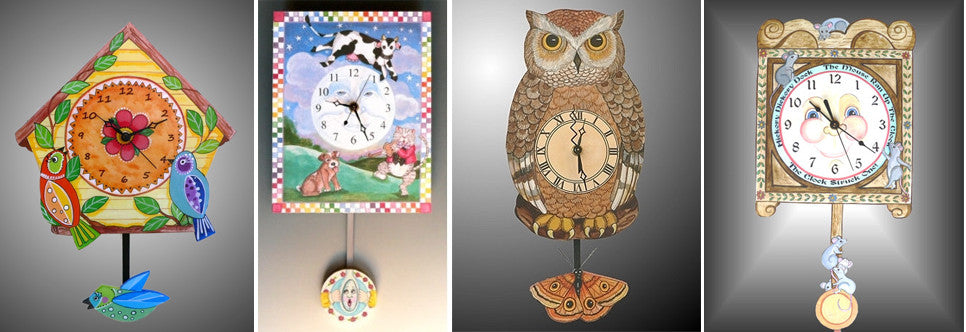 Toymakers Collection Clocks and Jumping jacks Handmade in America