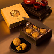 低糖蛋黃白蓮蓉月餅 Low Sugar White Lotus Seed Paste Mooncake with Egg Yolk