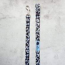 Load image into Gallery viewer, size medium black and white leopard print dog leads