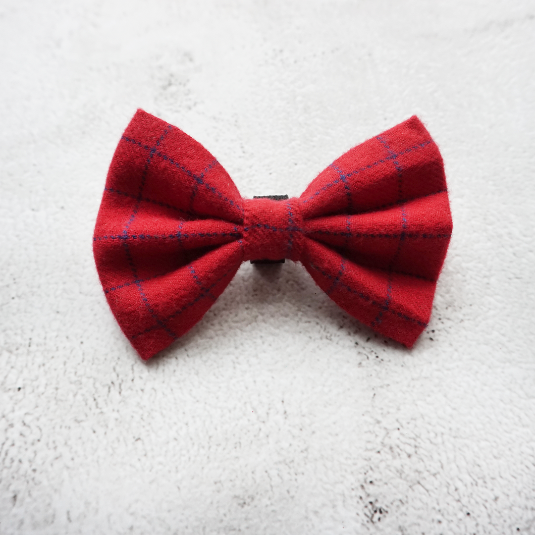 Red check flannel Bow
