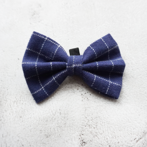 Blue check flannel Bow