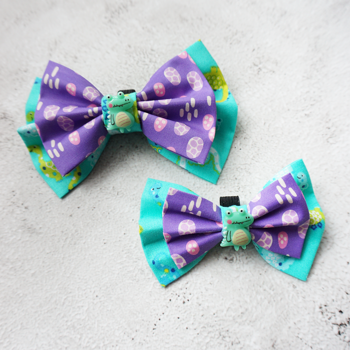 Cute Dino fancy Bow