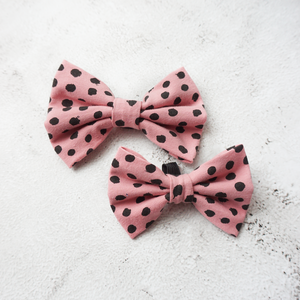 Pink dot jersey Bow