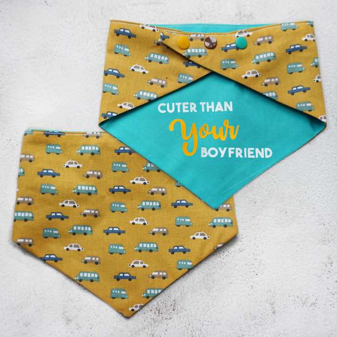 Cuter than your boyfriend reversible bandana