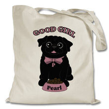 Load image into Gallery viewer, Personalised Good Girl Canvas Bag