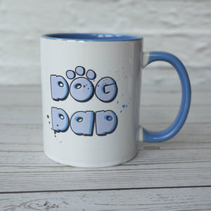 Dog Dad Blue Mug