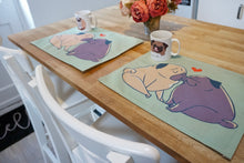 Load image into Gallery viewer, Pug Love placemat