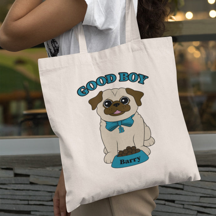 Personalised Good Boy Canvas Bag