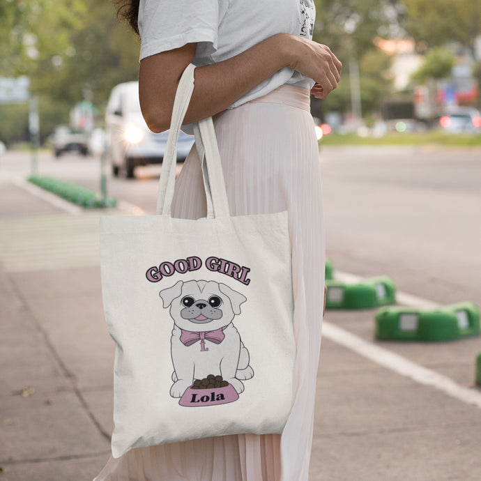 Personalised Good Girl Canvas Bag